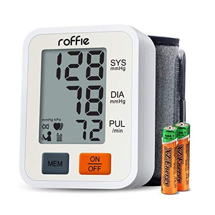 Wrist Blood Pressure Monitor W/ Large LCD Display