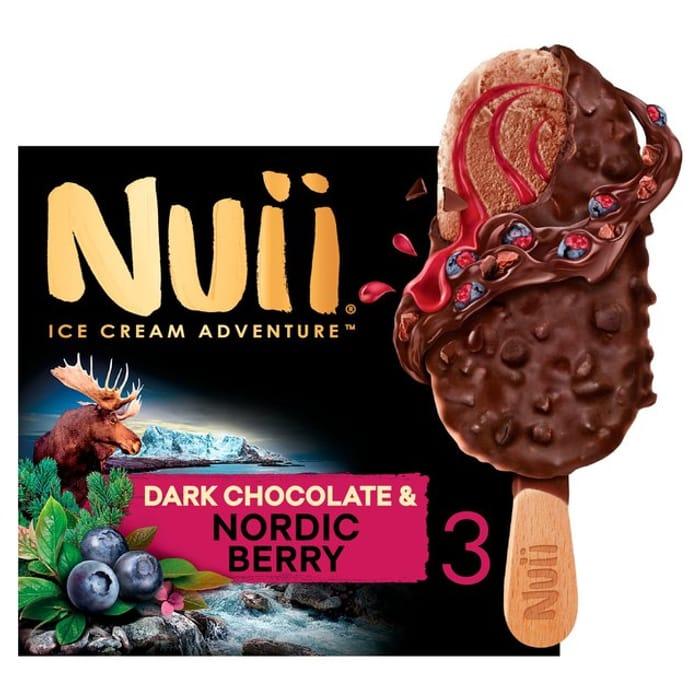 Nuii Dark Chocolate & Nordic Berry Ice Cream 3x90ml