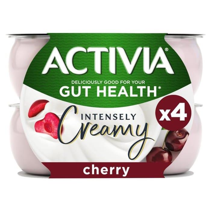 Activia Intensely Creamy Cherry Yogurts 4x110g