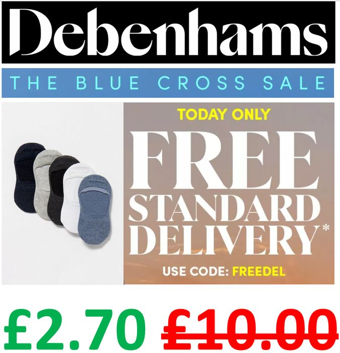 5 Pack Trainer Socks - £2.70 & FREE DELIVERY - LOADS OF OTHER DEALS TOO!