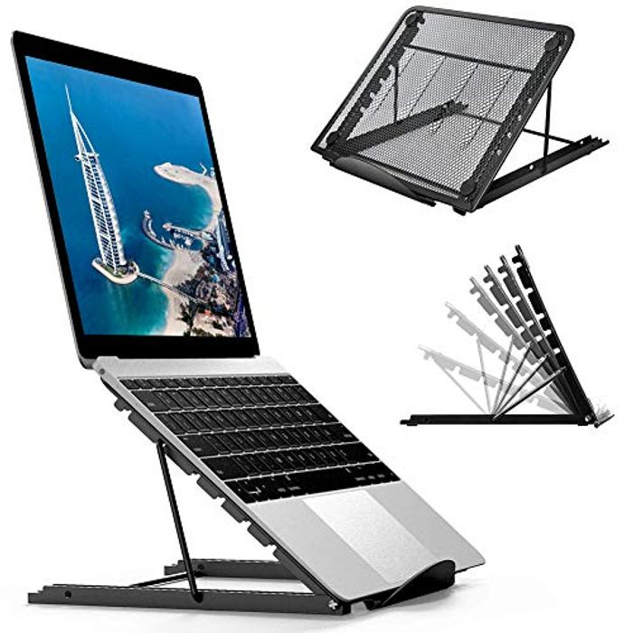 Foldable Portable Ventilated Desktop Laptop Holder 2 for 1