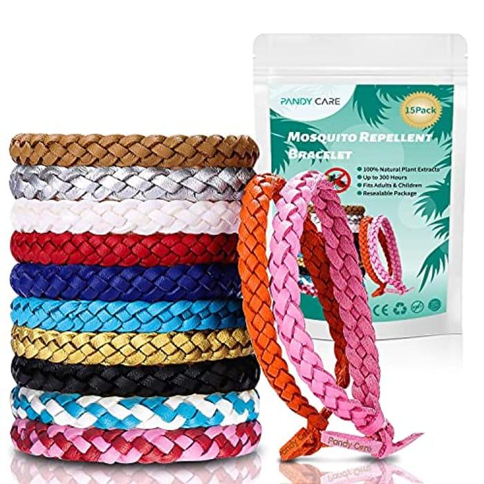 Mosquito Repellent Bracelet, PandyCare 15 Pack