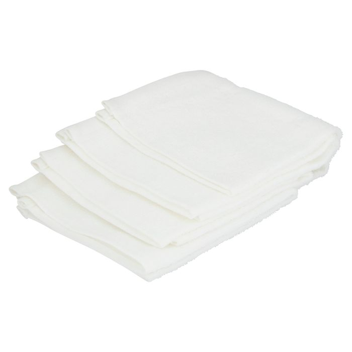4 Pack White Face Cloth With 5* Reviews
