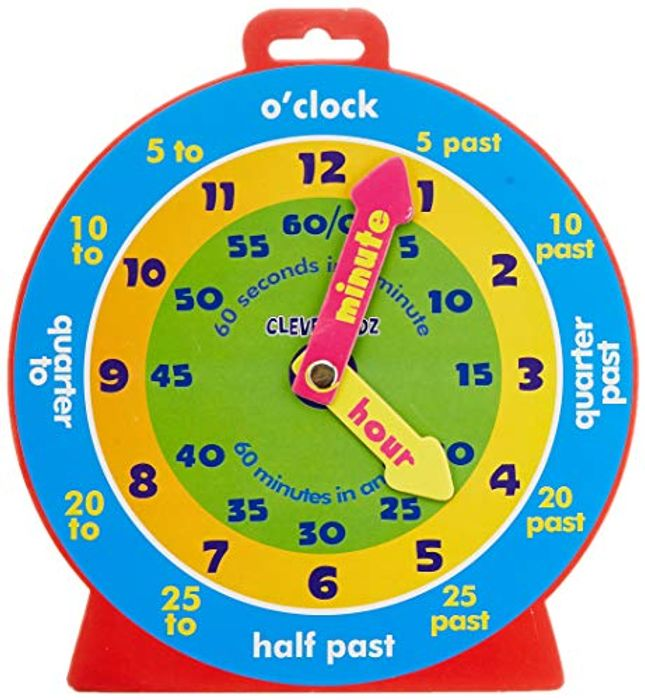 Learn to Tell the Time - Kids Clock - £3.25 (Prime)