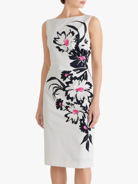 Fenn Wright Manson Laurentine Floral Print Midi Dress, Petunia Placement