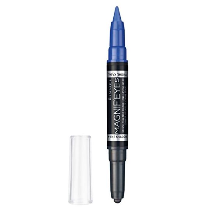 Rimmel London Magnif'Eyes Double Ended Shadow & Liner, 4 Dark Side of Blue