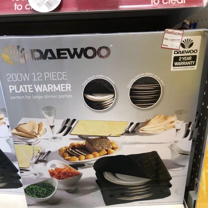 DAEWOO SDA1763 Plate Warmer - Black Reduced to £7.50 at Wilko