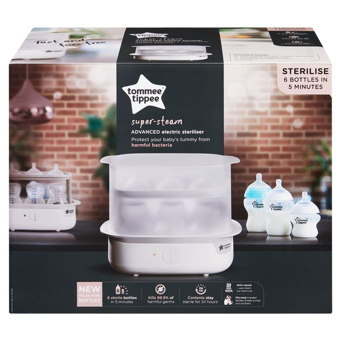 Tommee Tippee Super-Steam Advanced Electric Steriliser £35 at Tescos