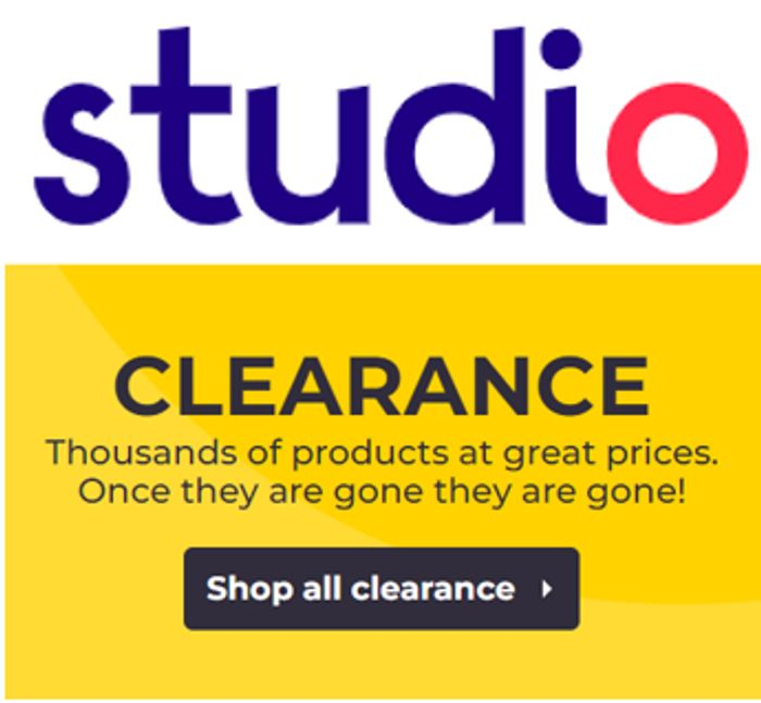 Studio Clearance - 1,920 Items to Clear!