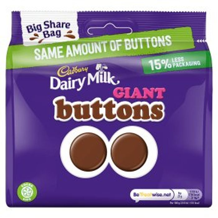 Cadbury Dairy Milk Giant Buttons240g