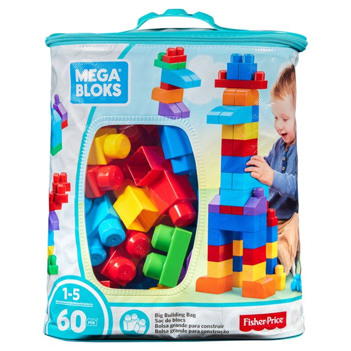 Mega Blocks Maxi Bag Classic 60Pcs (Clubcard Price)