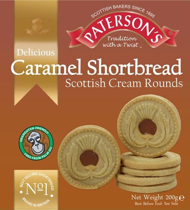 1/2 Price - Paterson's Caramel Shortbread Scottish Cream Rounds