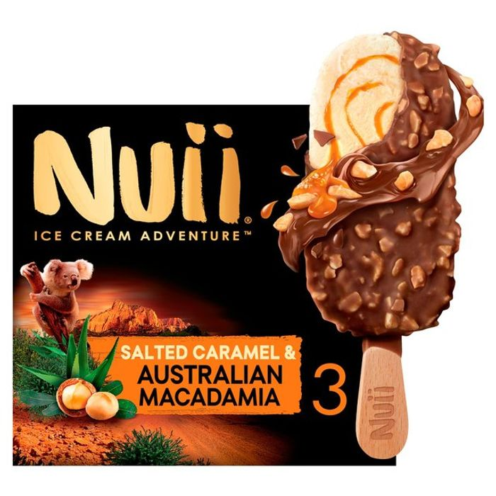 Nuii Salted Caramel & Australian Macadamia Ice Cream 3x90ml