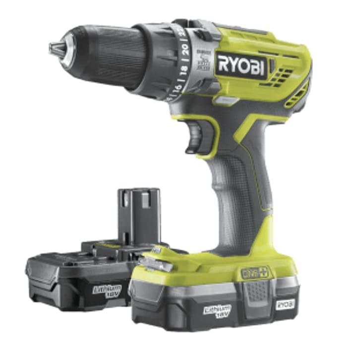 Ryobi ONE+ 18V Combi Drill Kit