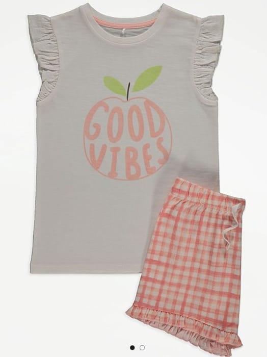 Good Vibes Ruffled Short Pyjamas