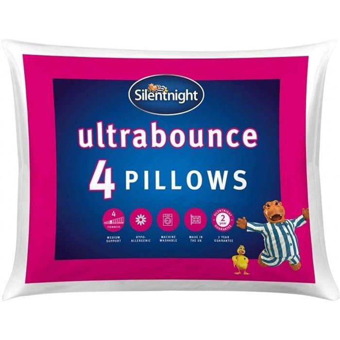 4 Pack Silentnight Ultrabounce Pillows - £12.99 at TJ Hughes