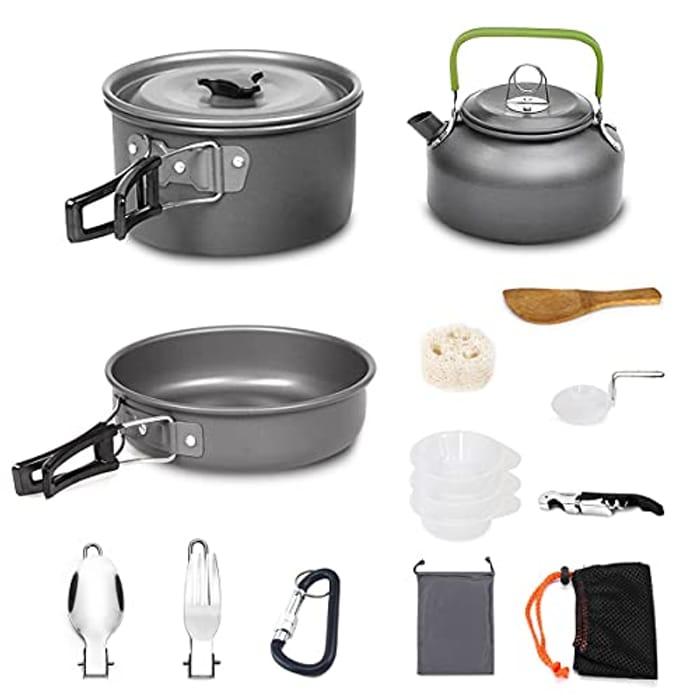 Deal Stack Camping Cookware Set (30% Code 6EUJ4BSC plus 35% Voucher)