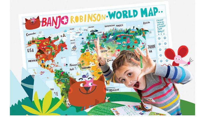 Free World Map Posters Sticklers and 2 Personalised Letters