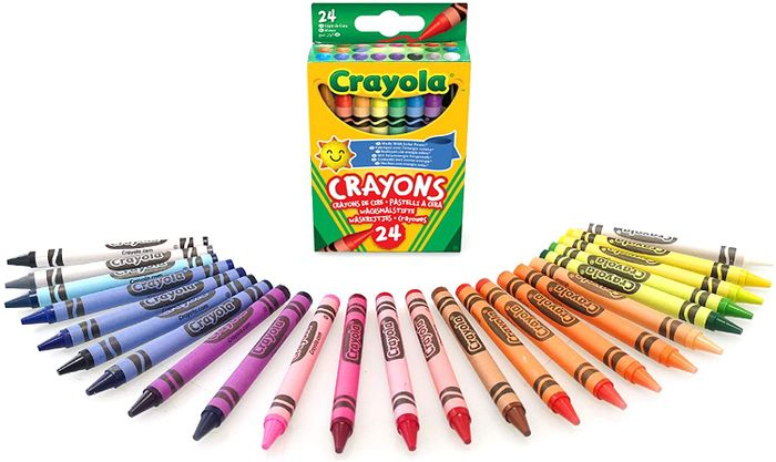 CRAYOLA Assorted Colouring Crayons Multicoloured 24 Pk