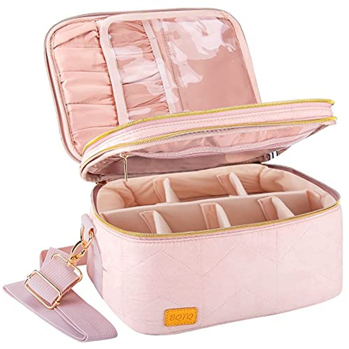 BQTQ Big Capacity Double Layer Travel Cosmetic Case Makeup Bag - Only £4.99!