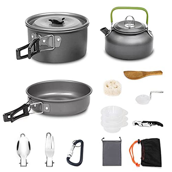 DEAL STACK - AUTOPkio Portable Lightweight Camping Cookware Set + 35% Coupon