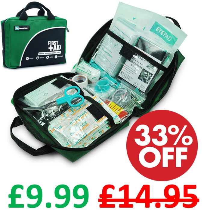 160 Piece First Aid Kit - with Cold (Ice) Pack & Emergency Blanket
