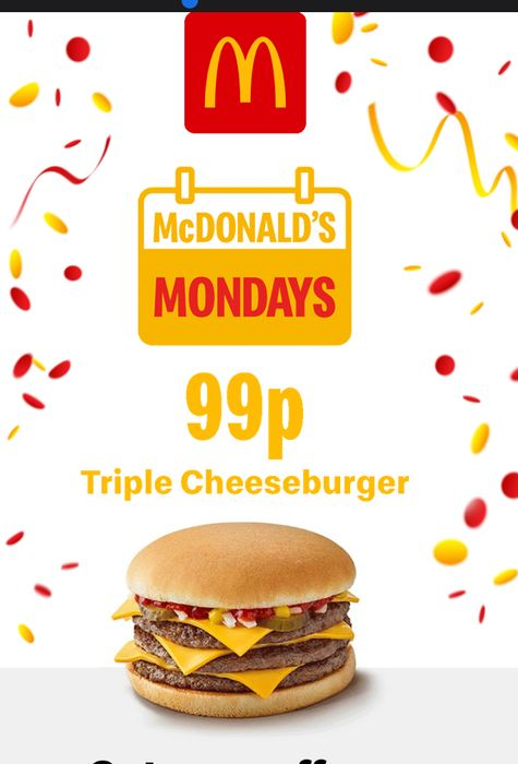 99p Triple Cheeseburger