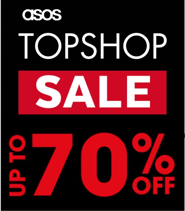 Special Offer! TOPSHOP SALE - up to 70% off Topshop - at ASOS