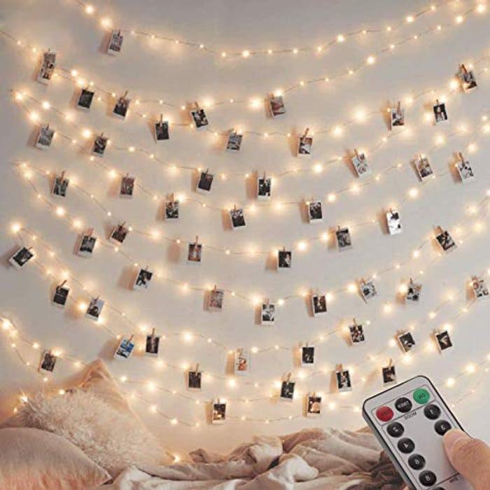 Pack] Fairy String Lights, 120LED 12M/40Ft 8 Modes USB Plug in Powered Lights