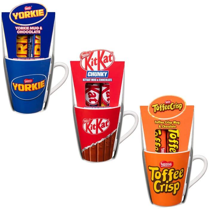 KitKat Chunky / Yorkie or Toffee Crisp Mug & Chocolate Bars 2pk