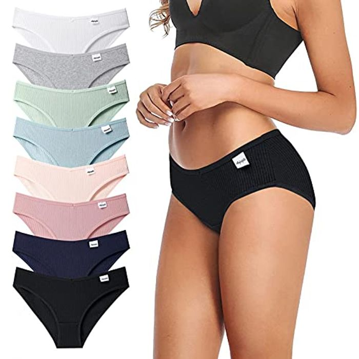STKOOBQ Women Premium Cotton Stretch Thong Panties, 3 Pack - Only £8.99!