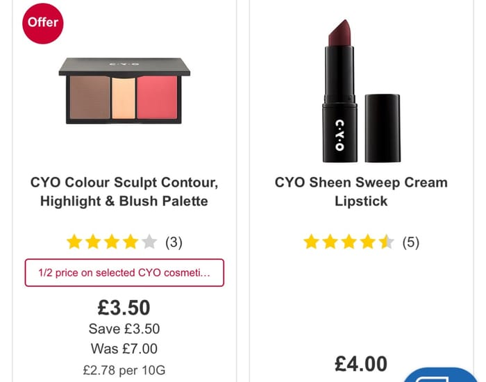 Better than 1/2 Price on Selected CYO,CYO Line 'Em Up Lip Liner