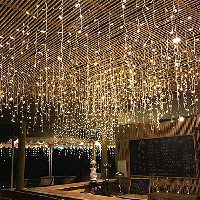 AYNEFY 210 LED Curtain String Lights 3x2m with 8 Modes