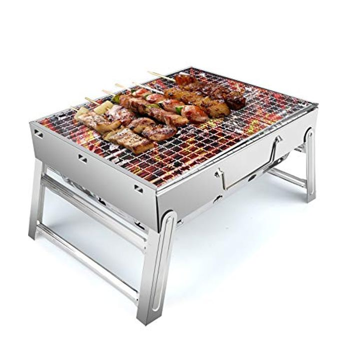 Stainless Steel BBQ Barbecue Grill , Portable Folding Charcoal - Only £8.99!