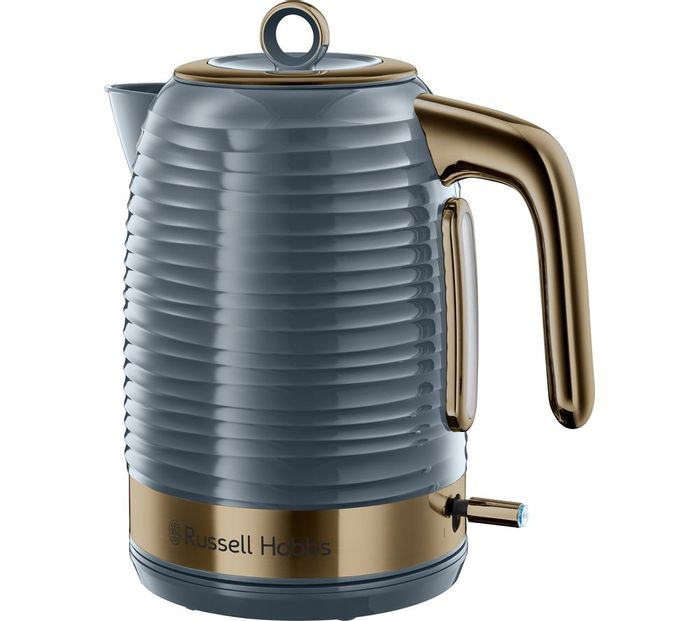 *SAVE £35* RUSSELL HOBBS Inspire Luxe Jug Kettle - Grey & Brass