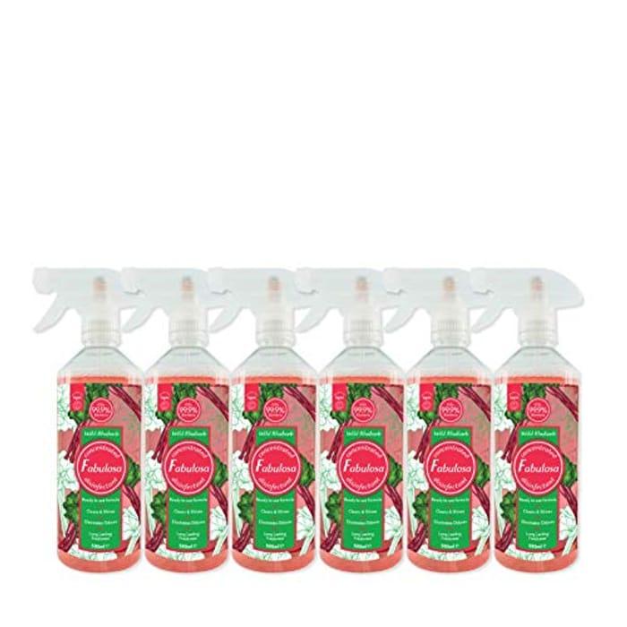 Fabulosa Multi-Purpose Anti-Bacterial Disinfectant Trigger Spray, 500ml, 6 Pack