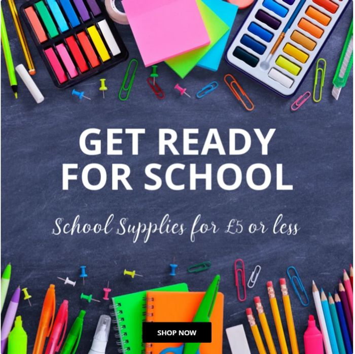 Up To 88% Off Back To School - Prices From Only 27p At Only5Pounds