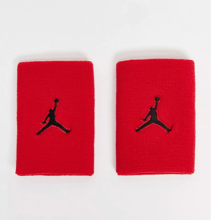 Nike Jordan Wristbands in Red 50% off at ASOS - Now £6