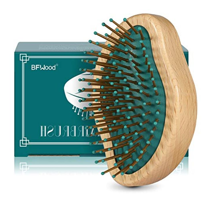 BFWood Original Wooden Hairbrush Detangles All Hair Types - Only £3.98!