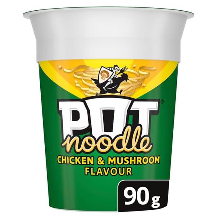 Pot Noodle. Many Varieties. .50p Clubcard Price