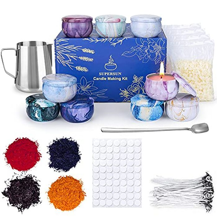 Best Price! SUPERSUN Candle Making Kit: 480g Beeswax with Coupon