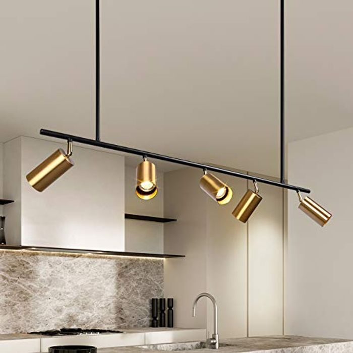 ZICBOL Modern Gold Pendant Light Ceiling, 100cm Adjustable - Only £29.99!