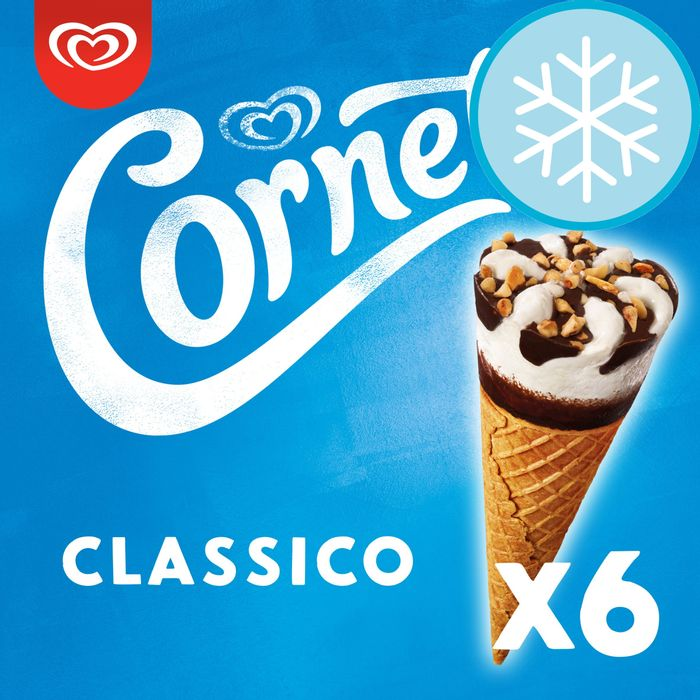 Cornetto Classic Ice Cream Cones 6X90ml
