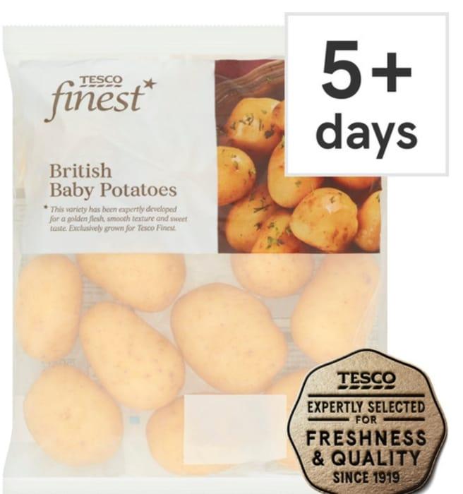 Tesco Finest Baby Potatoes 750G Clubcard Price 59p