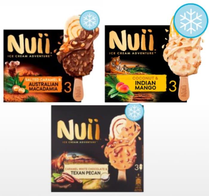 Nuii Coconut &Mango,Caramel White Chocolate peacon,Macadamia,Ice Cream 6X55ml