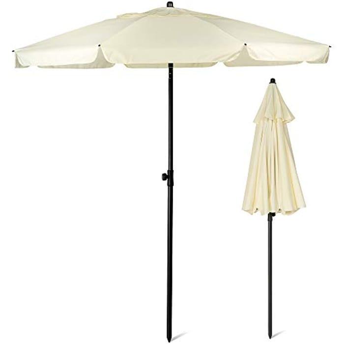 2M Ivory Beach Umbrella | Beach Parasol