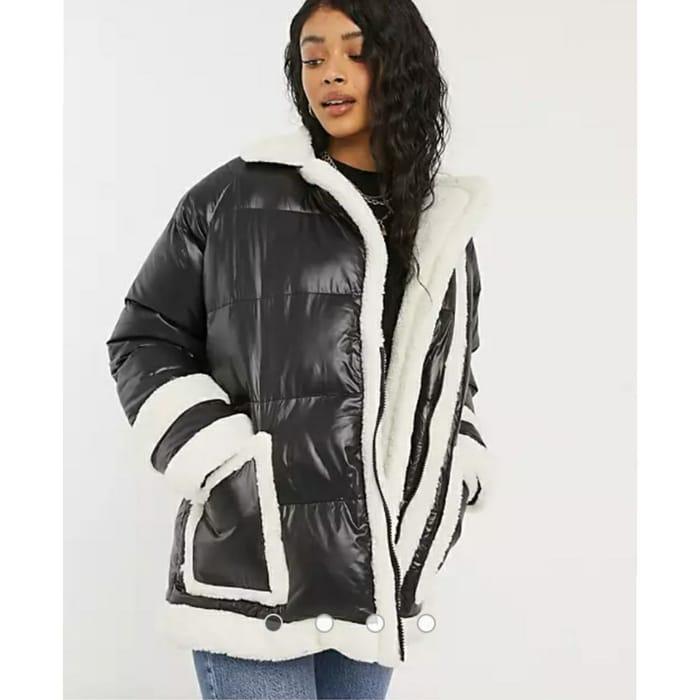Threadbare Jiggy Cosy Borg Padded Jacket Size 16