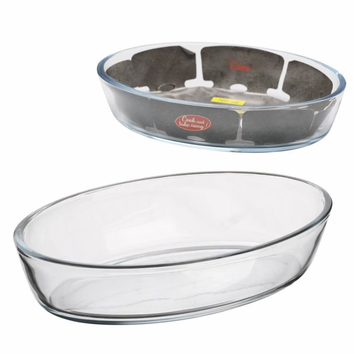 Oval Glass Oven Dish - 0.7l