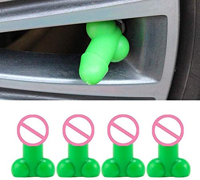 Funny 4 X Valve Caps for Car, Motorcycle, Bicycle,