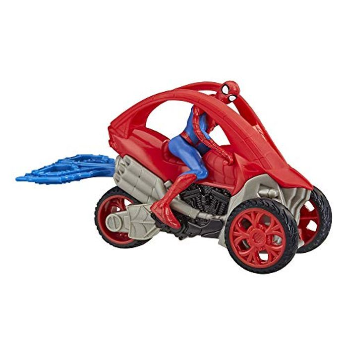 Spider-Man Stunt Vehicle 15-Cm-Scale Super Hero Action Figure - Only £4!